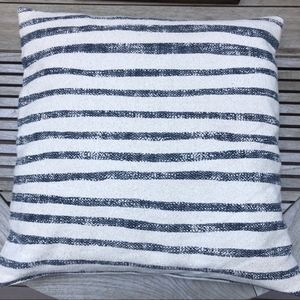 DKNY nautical stripe pillow with down insert.